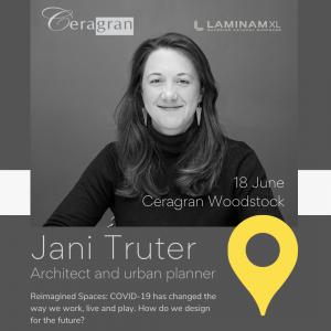 Jani Truter will be presenting at Ceragan Woodstock during The Cape Town Design Trail